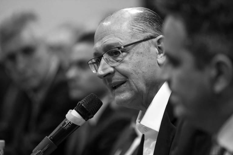 Geraldo Alckmin, candidato do PSDB à Presidência, com líderes dos partidos que compõem o centrão