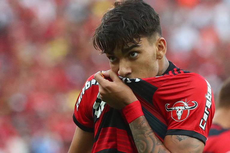 O volante Lucas Paquetá é desfalque do Flamengo na partida contra o Cruzeiro pela Libertadores