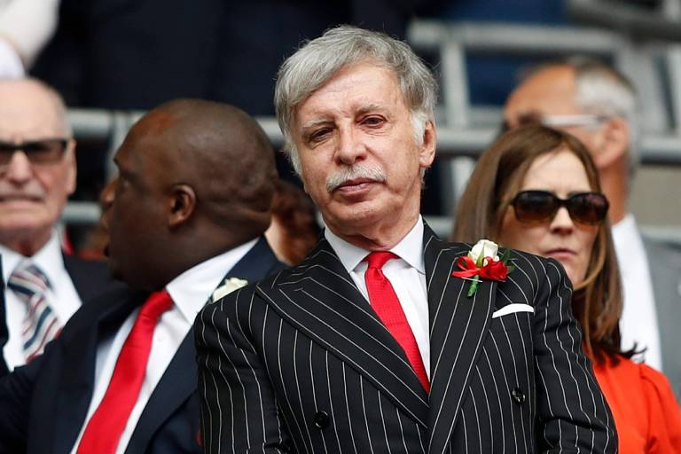 O bilionário americano Stan Kroenke, que tornou-se o dono do Arsenal, após comprar 30% das ações do magnata russo Alisher Usmanov
