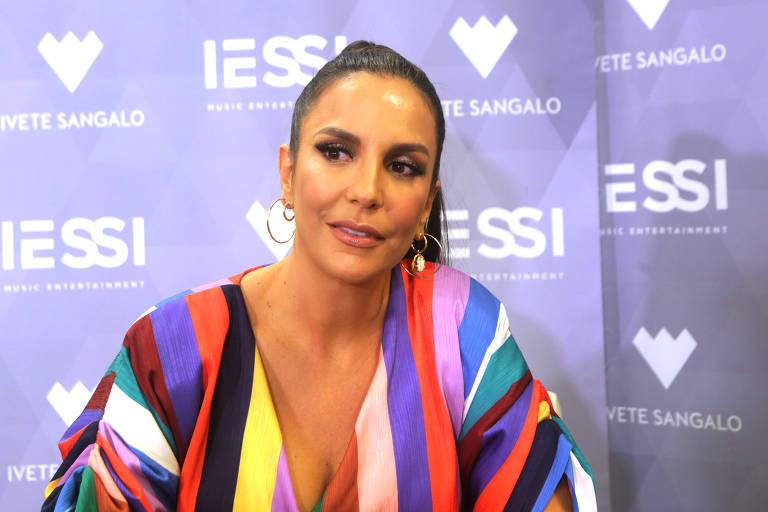 Cantora Ivete Sangalo antes do show que fez com Gilberto Gil , no Allianz Parque Hall.