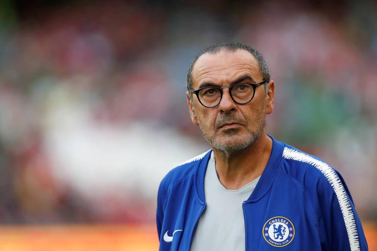 Maurizio Sarri foi vice-campeão italiano com o Napoli antes de ser contratado pelo Chelsea para a atual temporada