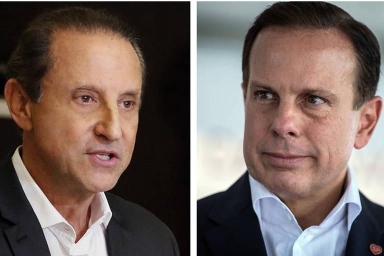 Candidatos ao governo de São Paulo, João Doria (PSDB) e Paulo Skaf (MDB)