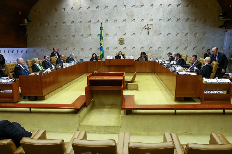 Sessão Plenária do STF, sob a presidência da Ministra Carmen Lúcia