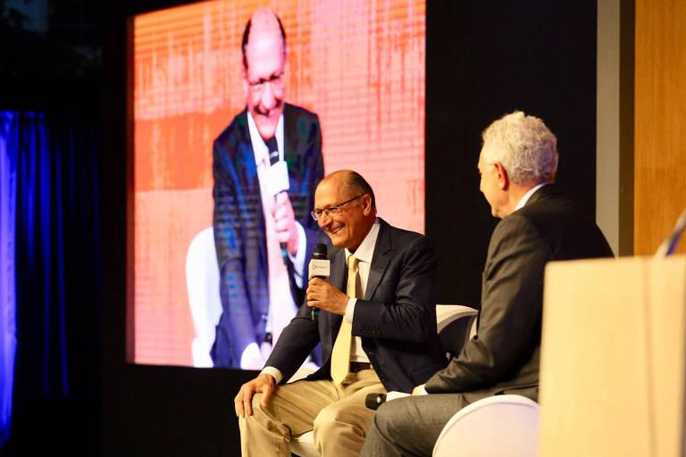 O candidato Geraldo Alckmin (PSDB) durante durante encontro do BTG Pactual com presidenciáveis na Casa Fasano, na capital paulista