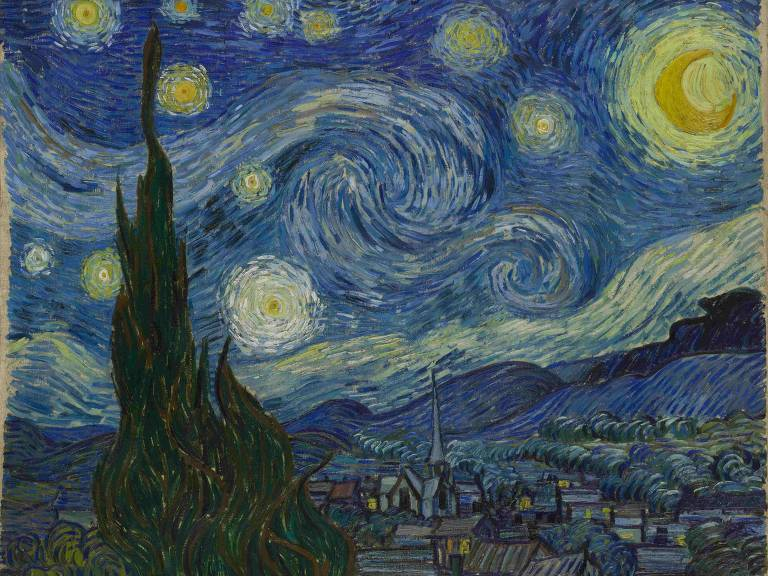 """Obra """"Noite Estrelada"""", de Vincent van Gogh"""