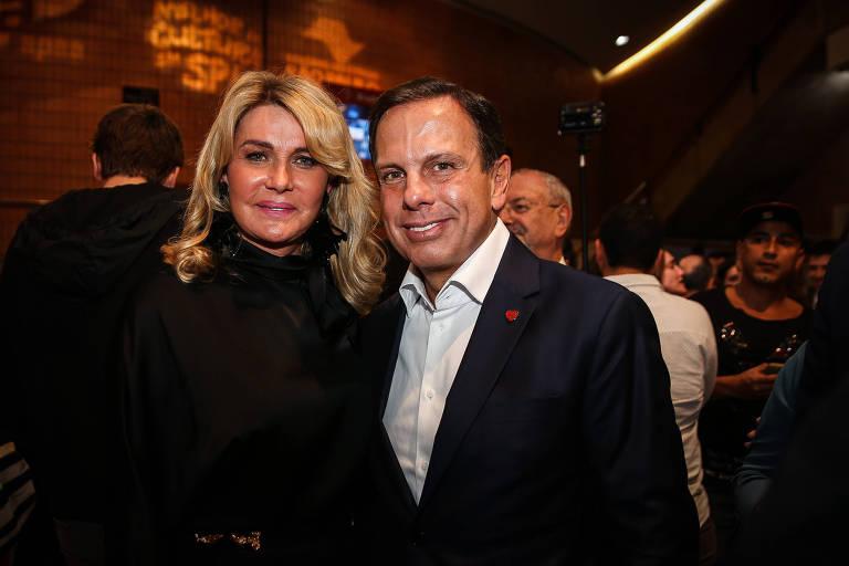 Bia Doria com o marido, João Doria (PSDB), candidato ao governo de São Paulo