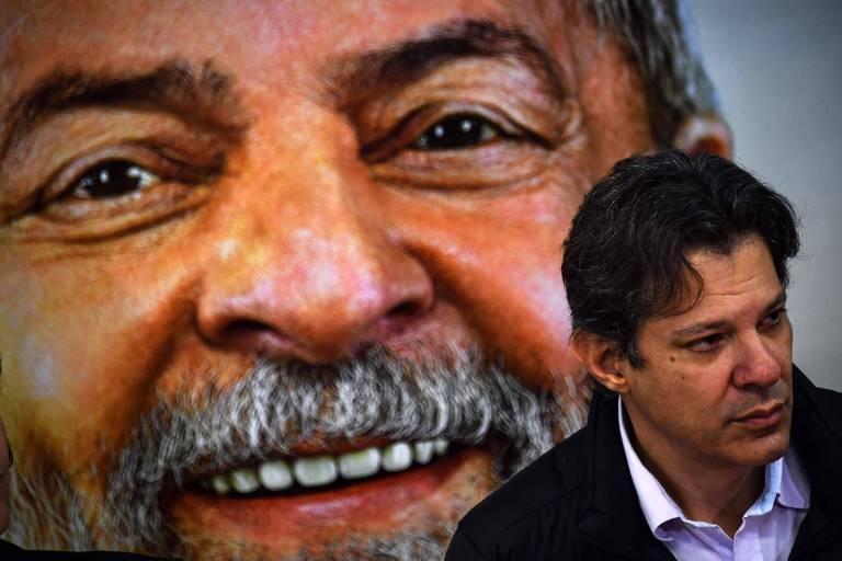 O ex-prefeito de São Paulo Fernando Haddad (PT) durante entrevista coletiva em São Paulo