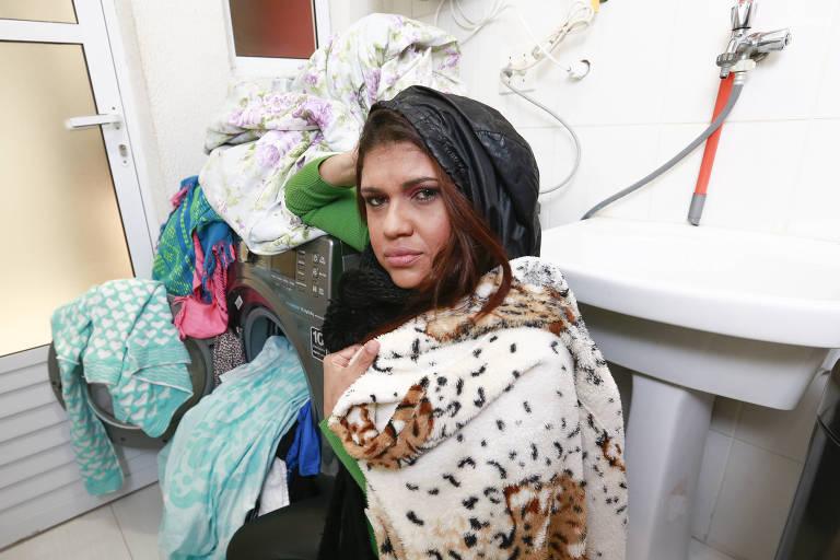 Ivana Pedretti detesta lavar roupa no frio e deixa acumular bastante peça