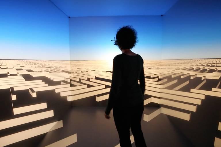 """Simulação da obra """"Borders"""" (2018), de Regina Silveira, que será exibida pela primeira vez no Mube"""