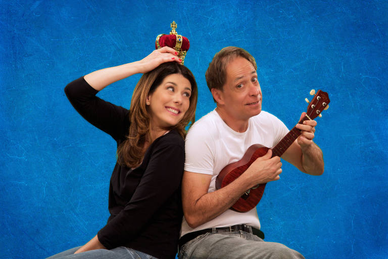 Graziella Moretto e Pedro Cardoso protagonizam o espetáculo 'Nem Sim Nem Não – Uma Peça de Teatro Infantil que Ninguém Pediu'