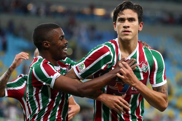 Pedro, do Fluminense, tenta ser o centroavante que Tite quer