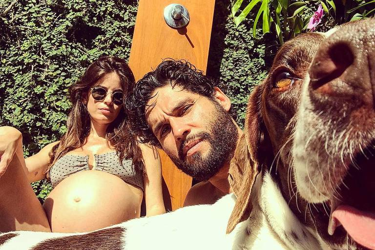 Fernanda Mader, Dudu Azevedo e cão