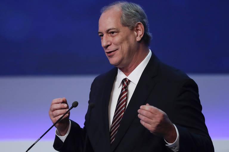 Ciro Gomes (PDT) durante debate presidencial na Bandeirantes