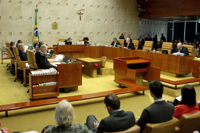 Sessão plenária do STF (Supremo Tribunal Federal), em Brasília