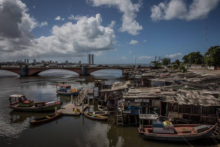 Favela em Recife; maior problema de Pernambuco é a segurança