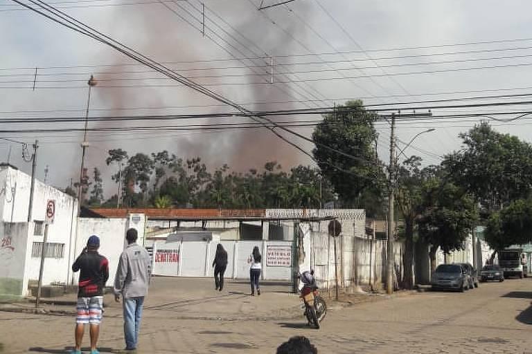 Gasômetro da Usiminas explode em Ipatinga