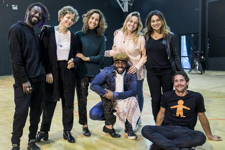 Jonathan Azevedo, Leandra Leal, Camila Pitanga, Lázaro Ramos, Fernanda Gentil, Dira Paes e Flavio Canto