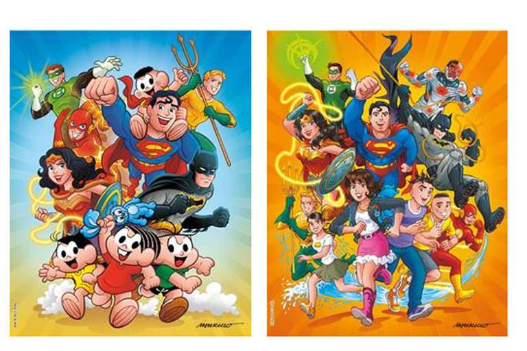 Capas de novos quadrinhos após parceria de Mauricio de Sousa Produções, Panini e DC Entertainment