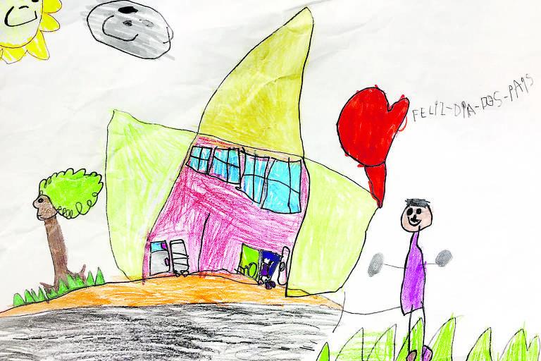 Desenho de Luiza Gardim, feito aos cinco anos