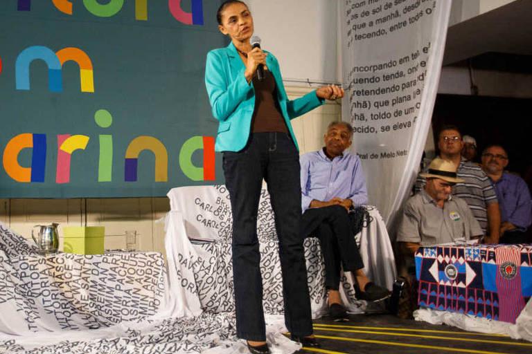 Em 2014, num evento no Rio com representantes da cultura, como Gilberto Gil