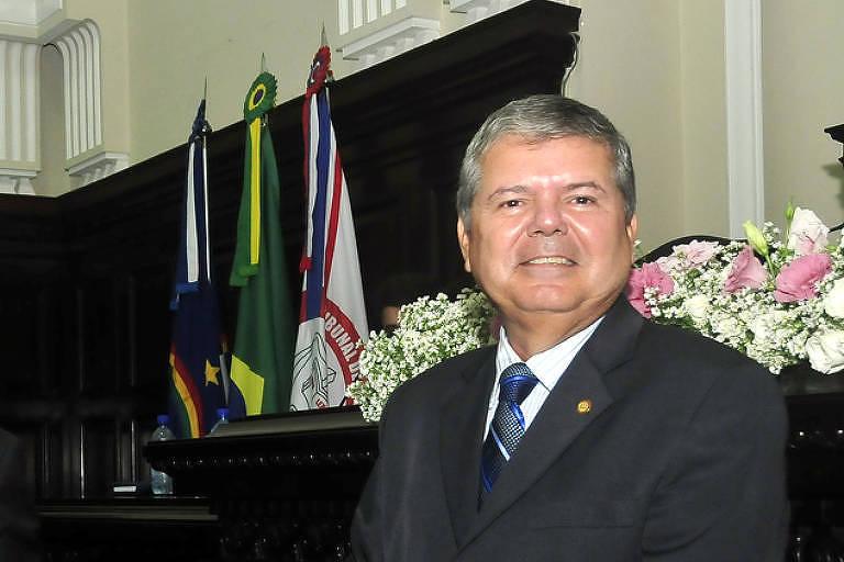 O desembargador Ricardo Paes Barreto, em evento do TJ em 2016