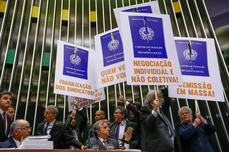Votação da Reforma Trabalhista no plenário da câmara dos deputados