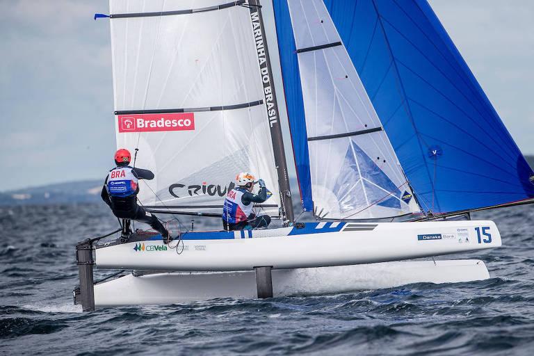 Samuel Albrecht e Gabriela Nicolino no Mundial da Dinamarca neste domingo (12)