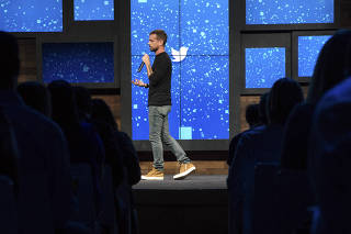 Jack Dorsey, the new chief of Twitter, speaks at a promotional event in New York.