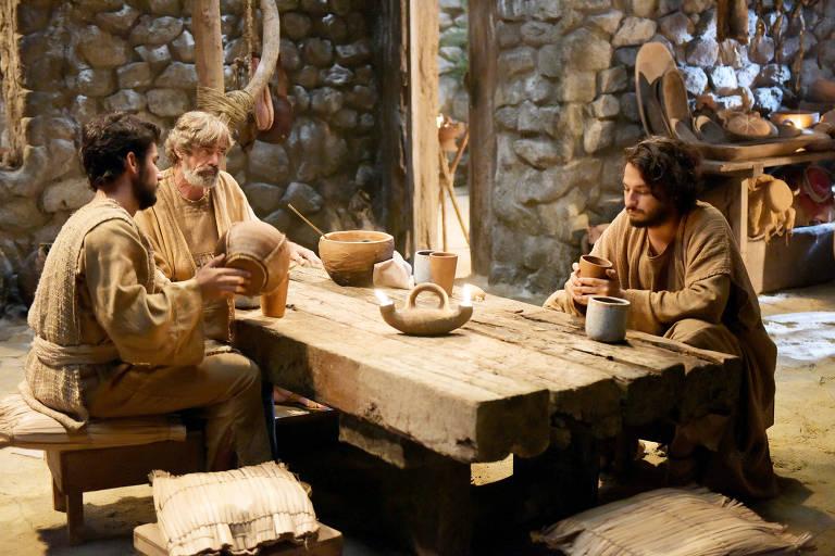 Cenas da novela 'Jesus' da Record