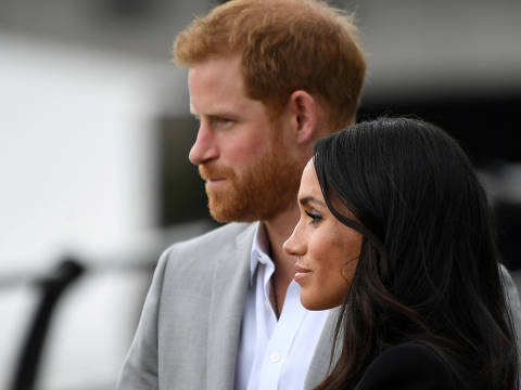 FILE PHOTO: Britain's Prince Harry and Meghan, the Duchess of Sussex (UNSEEN), visit the Famine Memorial in Dublin, Ireland, July 11, 2018. REUTERS/Cathal McNaughton/File Photo ORG XMIT: LON200