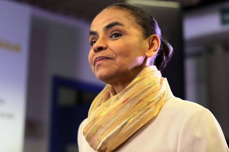 A presidenciável Marina Silva (Rede) em evento sobre educação promovido pelo Todos pela Educação e pela Folha
