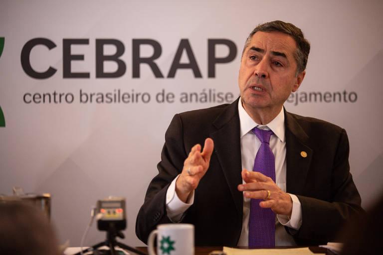 O ministro do STF Luis Roberto Barroso, que será relator do registro de candidatura de Lula no TSE