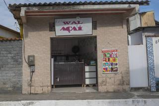 Loja de açaí da Wal, em Mambucaba, no Rio de Janeiro, onde o presidenciável Jair Bolsonaro tem uma casa de veraneio