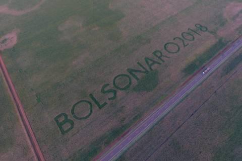Agricultor escreve nome de Bolsonaro em plantações em MS