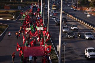 Manifestação do MST em Brasília (DF)