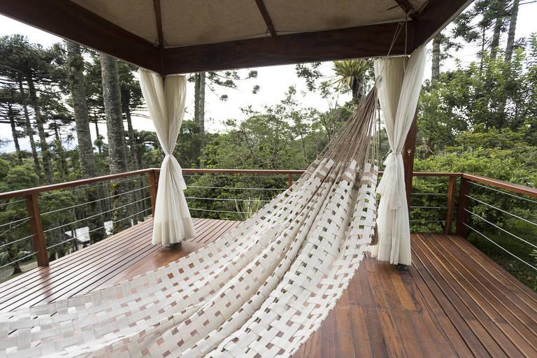 Rede de algodão orgânico da empresa Santa Luzia, da Paraíba