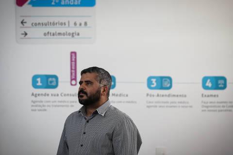 SAO PAULO/ SP, BRASIL, 10-08-2018: Retrato de  Leandro Lima da Crauz, 37, paciente que decidiu fazer a cirurgia de vasectomia depois de ter quatro filhos.   (Foto: Zanone Fraissat/Folhapress, COTIDIANO)***EXCLUSIVO****