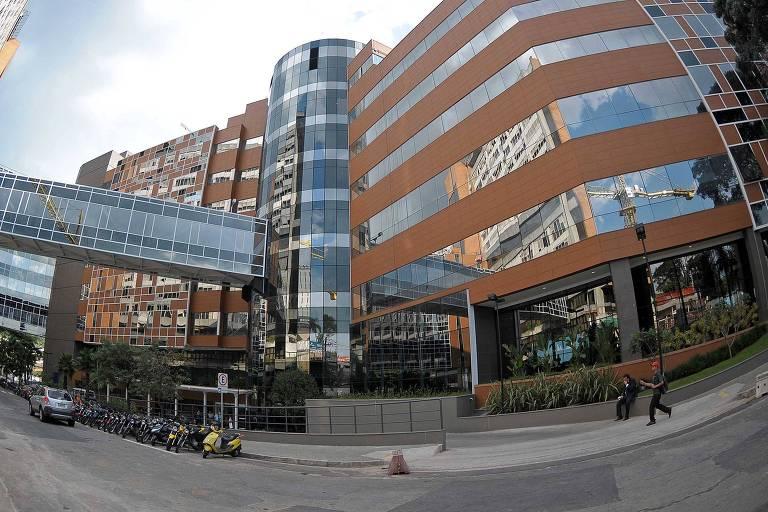 Fachada de hospital particular em São Paulo