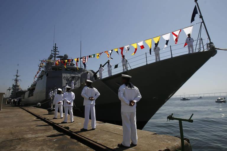 A corveta Barroso, que faz parte da Marinha brasileira. Licitação quer renovar frota de combate naval com releitura mais avançada da embarcação
