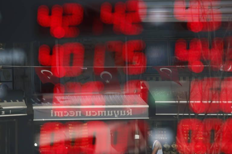 Vaivém u crise financeira na turquia desacelera exportações de