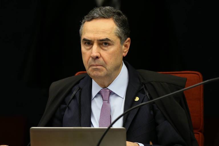 O ministro Luis Roberto Barroso durante sessão do STF.