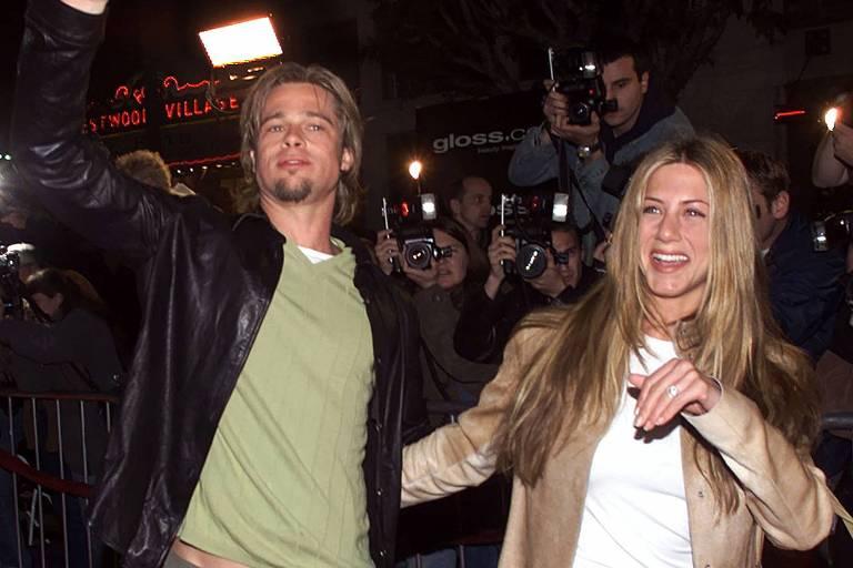 Casados por sete anos,  Brad Pitt e Jennifer Aniston  anunciaram sua separação em janeiro de 2005