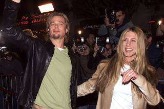 File image of Brad Pitt and Jennifer Aniston