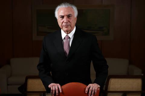 BRASILIA, DF,  BRASIL,  14-08-2018, 17h00: O presidente Michel Temer durante entrevista em seu gabinete no Palácio do Planalto. (Foto: Pedro Ladeira/Folhapress, PODER) ***EXCLUSIVO***