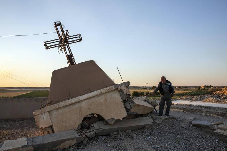 EI esvazia vilarejos cristãos na Síria