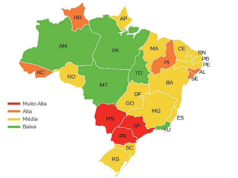 A influência do PCC em cada estado brasileiro