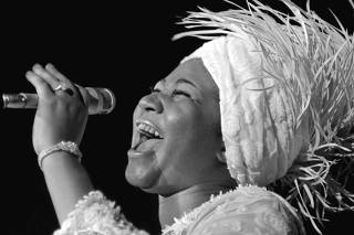 Aretha Franklin opens at Caesars Palace in Las Vegas