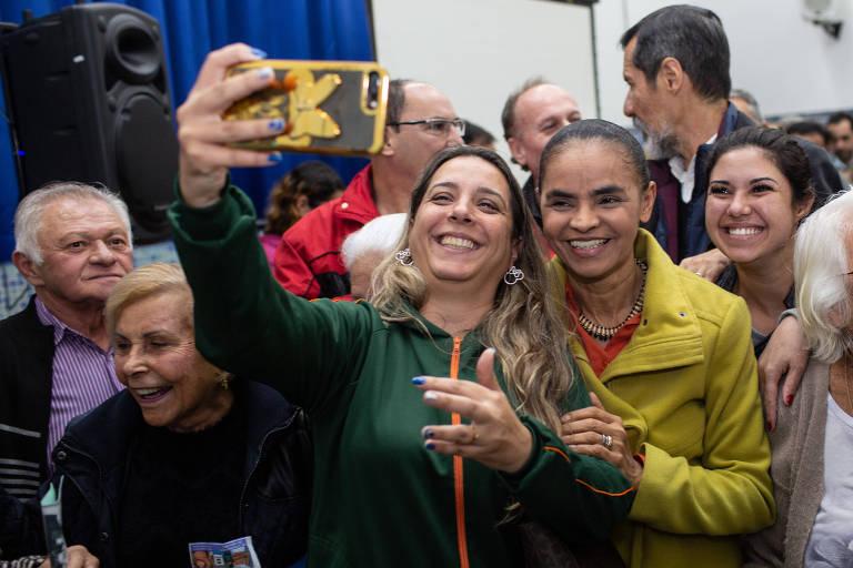A candidata à Presidência Marina Silva (Rede) visita ambulatório da Igreja Bom Jesus do Cangaíba, zona leste de São Paulo, em seu primeiro dia de campanha