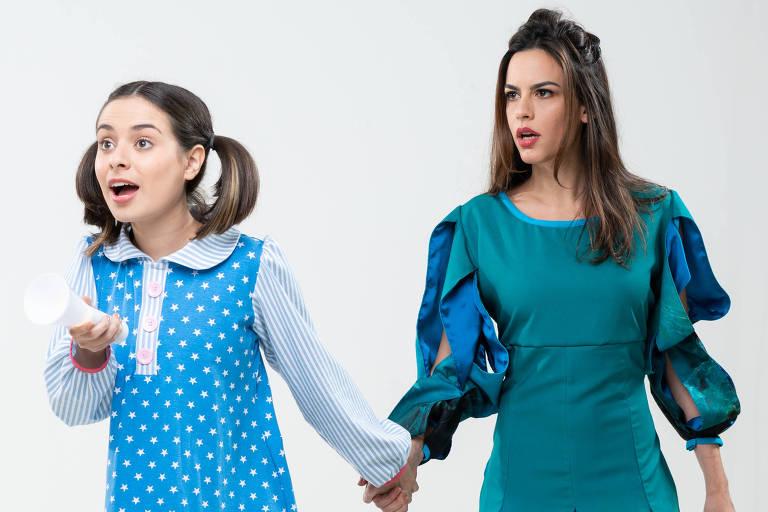 Thay Bergamim (Berenice) e Luiza Micheletti (Moça da Carruagem)