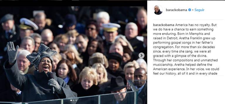 Famosos prestaram homenagens por meio das redes sociais a Aretha Franklin